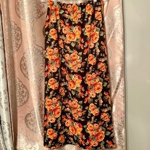 Rust floral skirt!